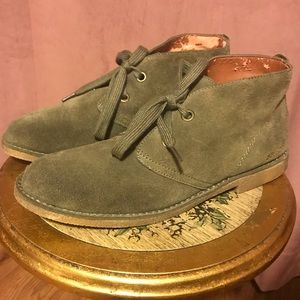 🍀Lucky Brand🍀Green Suede Oxford Loafers